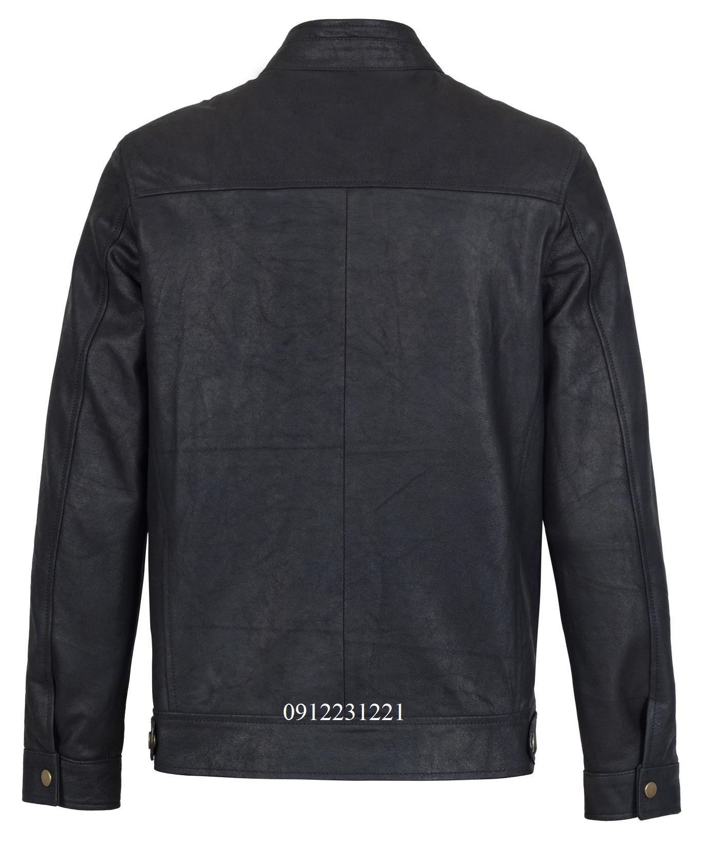 áo da cừu racer jacket