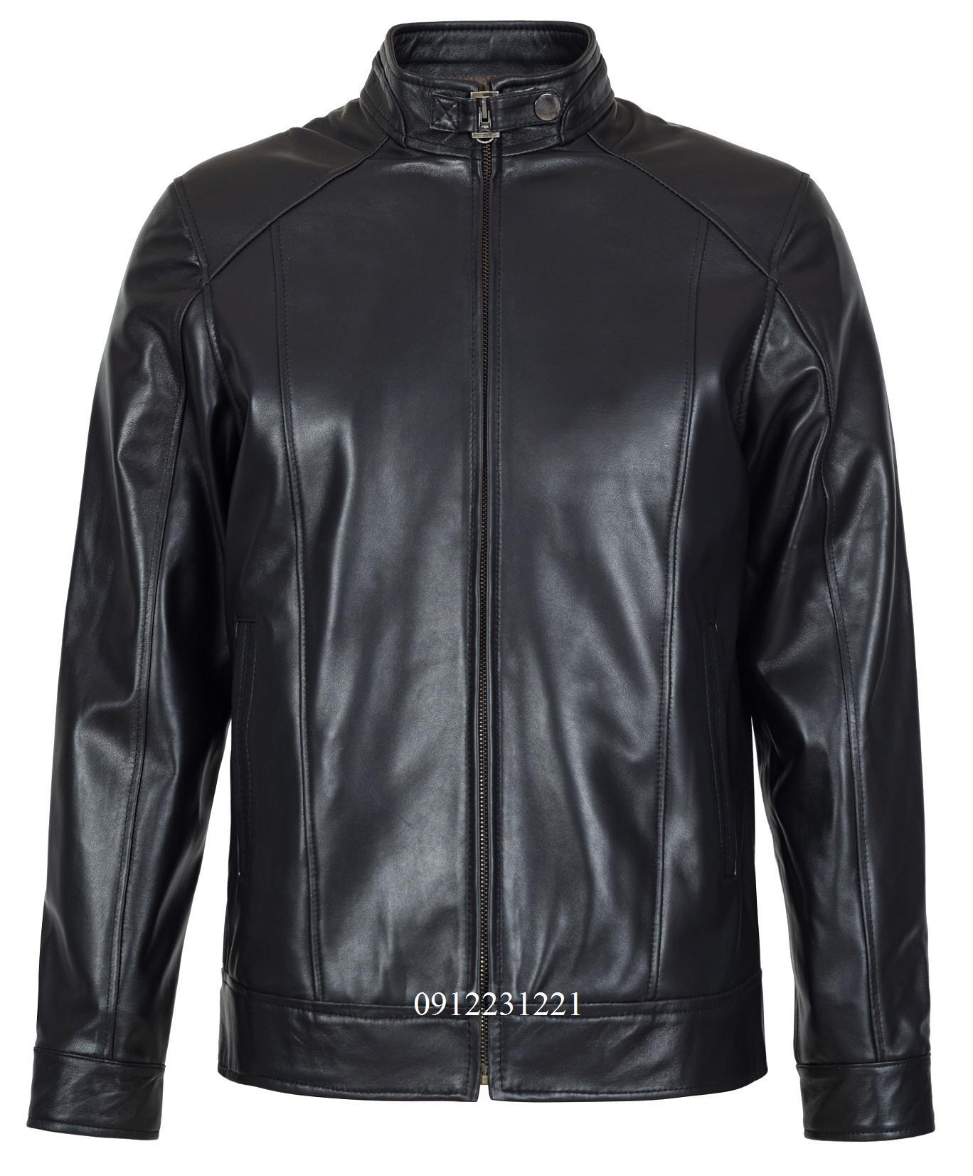 áo da nam racer jacket