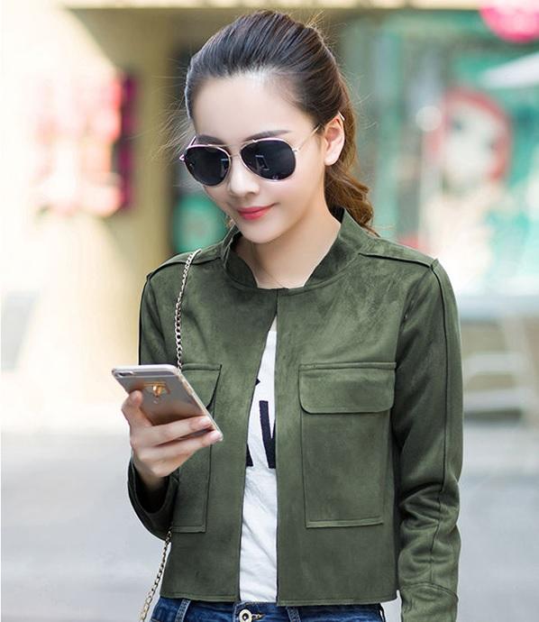 Những mẫu áo khoác nữ da lộn trẻ trung năng động cho phái đẹp